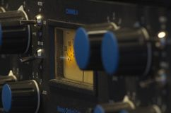 Встреча съемки к аудио приборам стоковая фотография rf