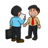 Встреча с клиентом иллюстрация вектора