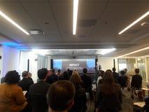 Встреча удара корпорации в Нью-Йорке стоковая фотография rf