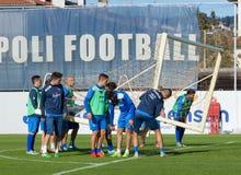 Встреча футбола Empoli команды Стоковое Изображение