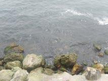 Встреча Чёрное море утесов Стоковая Фотография RF
