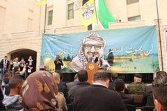 Встреча Ясира Арафата в Палестине Стоковые Фотографии RF