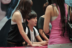 встреча zheng joe автографа Стоковое Изображение
