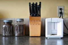 встречная верхняя часть кухни Стоковое Изображение RF