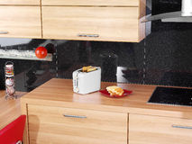 встречный тостер кухни стоковые изображения