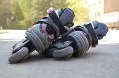 встроенный rollerblade s малыша стоковое изображение rf