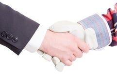 Встряхивание руки построителя и подрядчика Стоковые Изображения