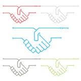 Встряхивание руки цепи Стоковая Фотография RF