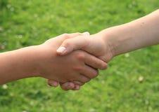 Встряхивание руки стоковая фотография rf