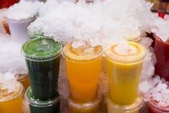 Встряхивания плодоовощ в различных вкусах Стоковые Фотографии RF