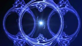 Вступление объезжает голубую предпосылку анимации цвета частицы безшовную иллюстрация штока