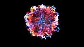 Вступление отверстия Свет, частицы вращения и ударная волна бесплатная иллюстрация