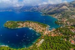 Cavtat, Хорватия Стоковая Фотография RF