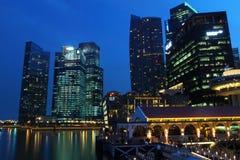 Пристань Сингапур Клиффорда стоковое изображение rf