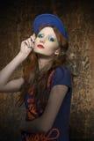 Всход моды городской женщины стиля Стоковое фото RF