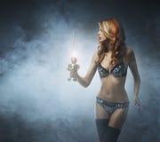 Всход моды молодой женщины redhead Стоковое Изображение