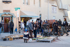 Всход улицы Longmire Санта-Фе Стоковые Фотографии RF