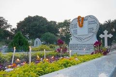 ` Вся память ` дня душ на старом кладбище на улице южного парка, Kolkata Стоковые Изображения RF