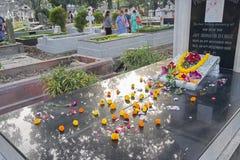 ` Вся память ` дня душ на старом кладбище Стоковые Фото