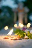 ` Вся память ` дня душ на старом кладбище Стоковое Фото