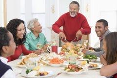 вся семья обеда рождества совместно Стоковые Фото