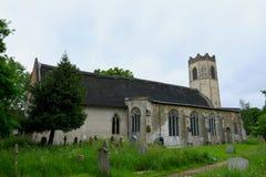 Вся церковь Святых, старое Buckenham, Норфолк, Англия стоковые фотографии rf