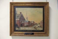 Вторая картина церков Христоса улицы неизвестным художником, пресвитерианским историческим обществом, Филадельфией стоковые изображения