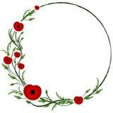 Вторая Мировая Война, коммеморативный символ Красный мак бесплатная иллюстрация