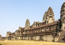 Вторая стена, Angkor Wat, Siem Riep, Камбоджа Стоковое Изображение