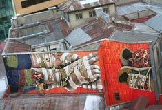 Вторая часть diptych на 2 зданиях внутри Стоковые Фото