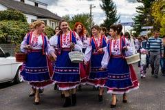 Второй этнический фестиваль Bobovischenske Grono был проведен в Zaka Стоковое Фото