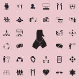 втройне значок рукопожатия Детальный комплект значков переговора и приятельства Наградной качественный знак графического дизайна  иллюстрация штока