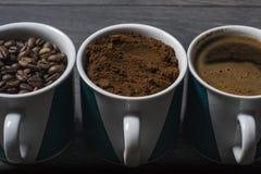 Втройне кофе смешивания Стоковые Изображения