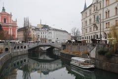 Втройне мост в зиме Стоковая Фотография RF
