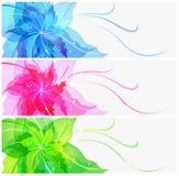 Втройне цветастая предпосылка цветка EPS10 Стоковая Фотография RF