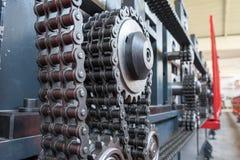 Втройне цепь ролика стренги с 3 цепными колесами Стоковое Фото