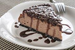 Втройне чизкейк шоколада Стоковое Фото