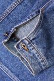 втулка куртки джинсовой ткани Стоковые Фотографии RF