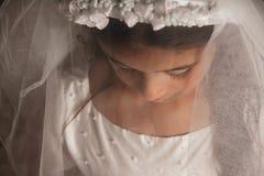 вуаль девушки платья общности святейшая Стоковые Фото