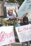 Вуалировать совместно-обучаемый протест против коррупции в сольном городе Стоковое фото RF