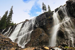 7 вуалируют падения, озеро O'Hara, национальный парк Yoho, Канаду стоковое фото rf