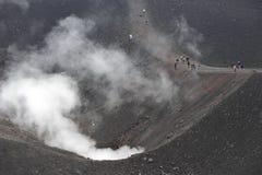 вулканизм etna стоковое изображение