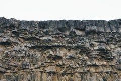 Вулканическая скала в Исландии Стоковые Изображения