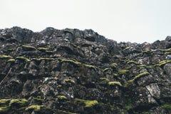 Вулканическая скала в Исландии Стоковые Фотографии RF