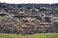 Вулканическая скала в Исландии Стоковая Фотография RF