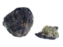 Вулканические бомба/Olivine. Начало: Lanzarote Стоковое Фото