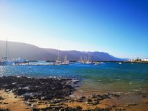Вулканические Канарские островы Лансароте стоковые фото