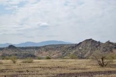 Вулканические ландшафты на озере Magadi, Кении стоковые изображения