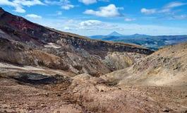Вулканические ландшафты peninaula Камчатки Стоковая Фотография