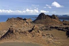 Вулканический конус - острова Bartolome - Галапагос Стоковое фото RF